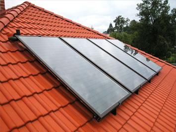solární kolektory pro ohřev vody